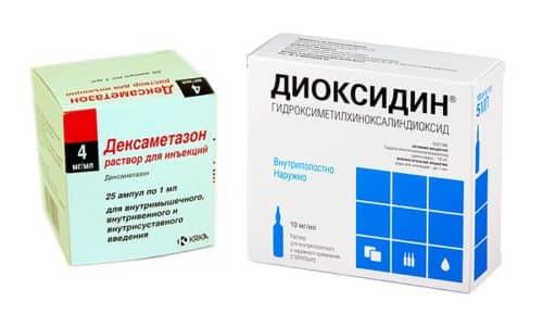 Можно ли применять вместе Диоксидин и Дексаметазон?