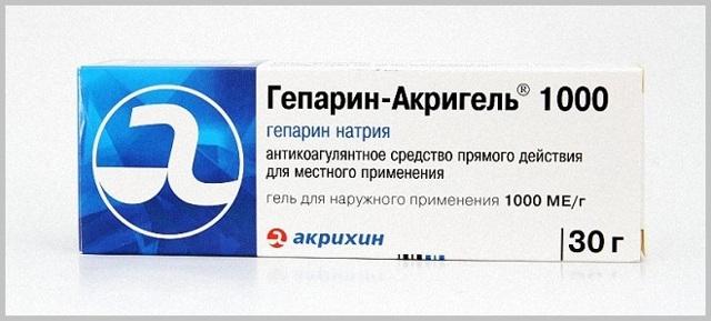 ГЕПАРИН АКРИГЕЛЬ - инструкция по применению, цена, отзывы и аналоги